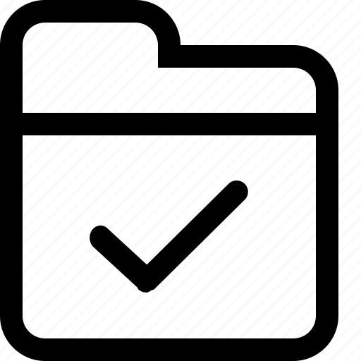 document, done, folder, tick icon