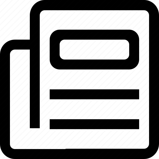 article, document, news, newspaper icon