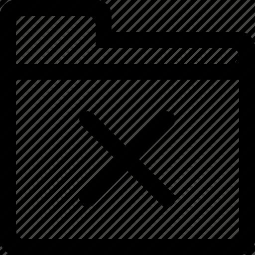cross, delete, document, folder, remove icon