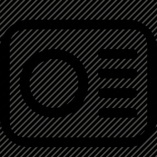 document, newspaper, profile icon