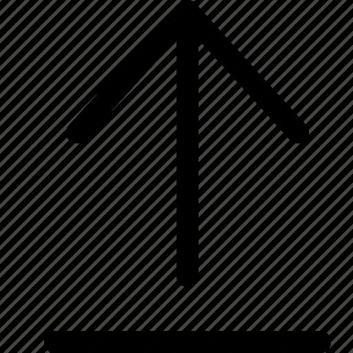 arrow, document, upload icon