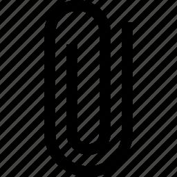 attachment, clip, document, paperclip icon