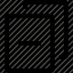 blank, delete, document, minus icon