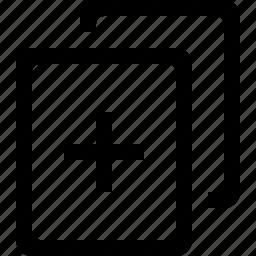 add, blank, document, plus icon