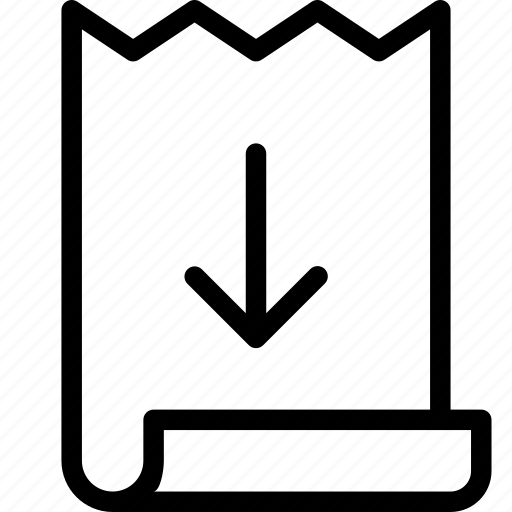 bill, download, invoice icon