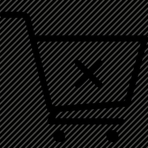cart, cross, ecommerce icon