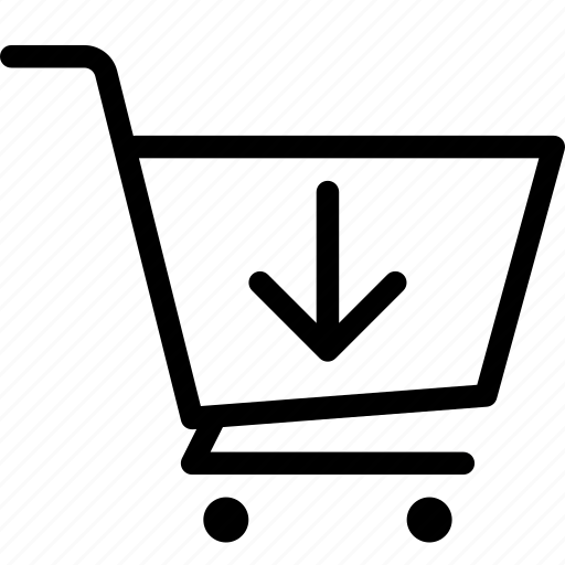 cart, download, ecommerce, shop icon