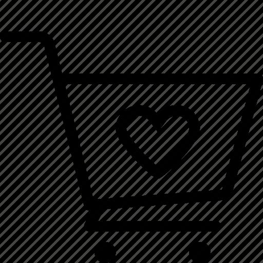 cart, ecommerce, love, shop icon