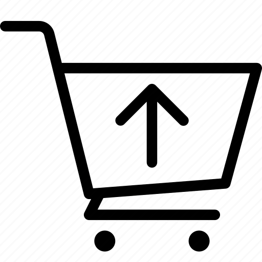 cart, ecommerce, shop, upload icon