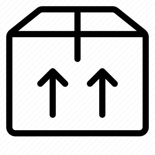 ecommerce, item, manufacturing, pack, packing, shipping, sign, upside icon