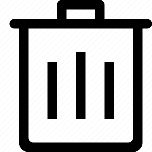 can, editorial, trash icon