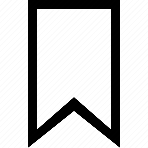 bookmark, editorial icon