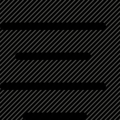 align, center, editorial icon