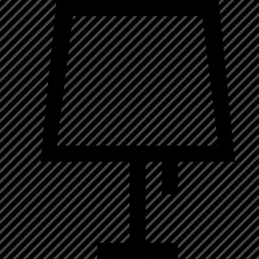 corner, interior, lamp icon