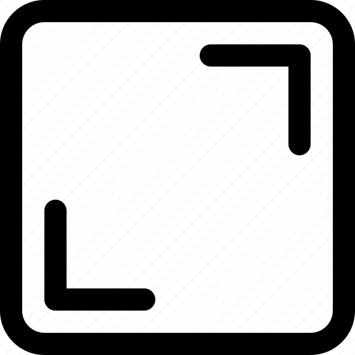 fullscreen, interface, resize icon