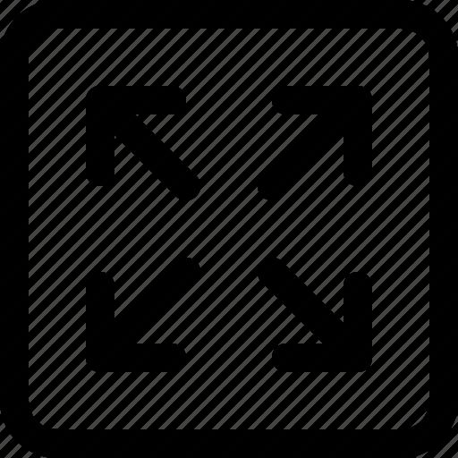 enlarge, layout icon