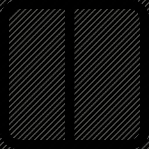 half, layout icon