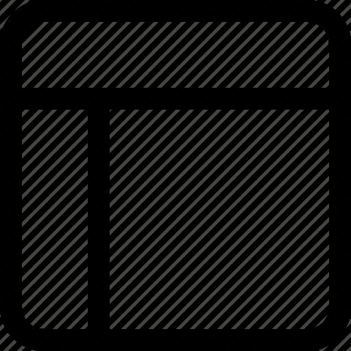 layout, left, sidebar icon