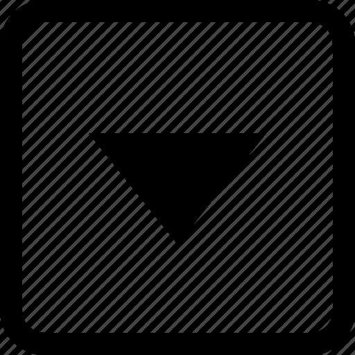 arrow, down, interface icon