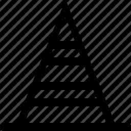 cone, interface, street, warning icon