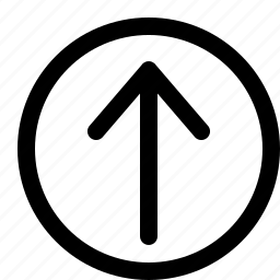 arrow, interface, long, top icon