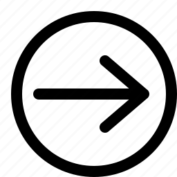 arrow, interface, long, right icon
