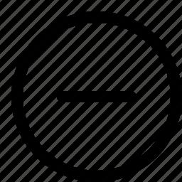 interface, minus, remove icon