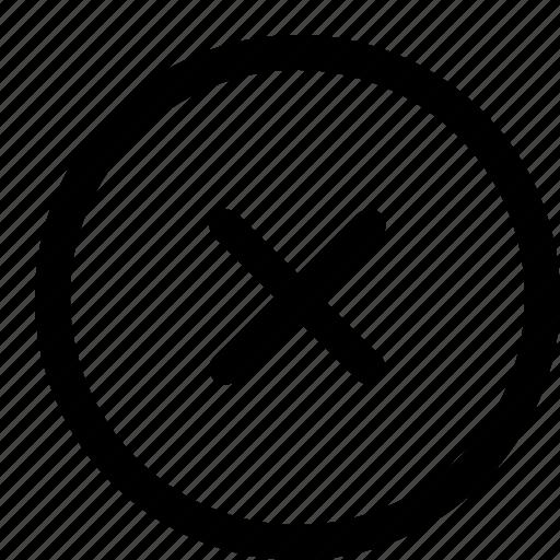 cancel, cross, error, interface, remove icon