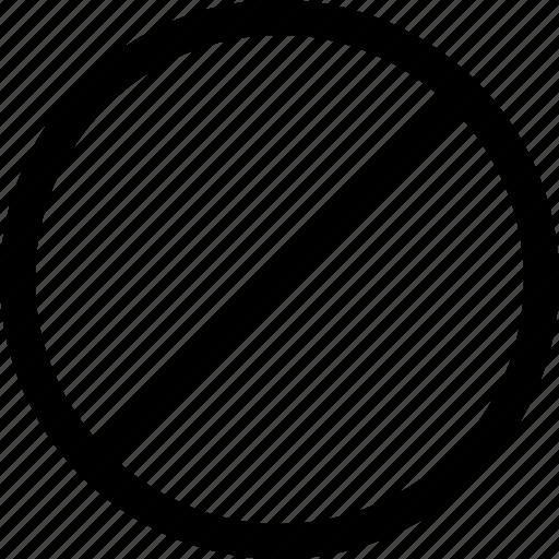 block, failed, interface icon