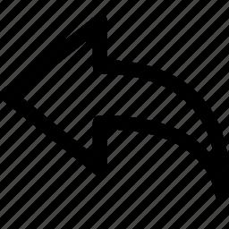arrow, interface, left icon