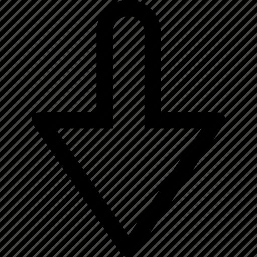 arrow, bottom, interface icon