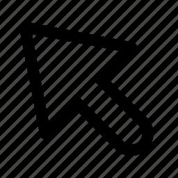 arrow, interface, left, top icon