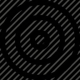 bulleye, interface, target icon