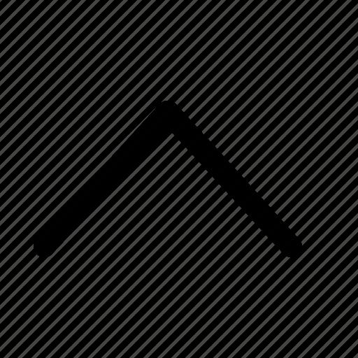 arrow, interface, top icon