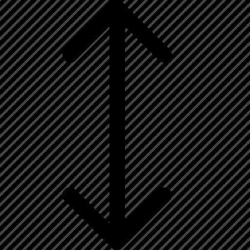 arrow, interface, vertical icon