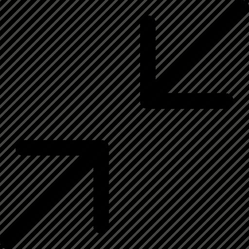 arrows, downgrade, interface icon