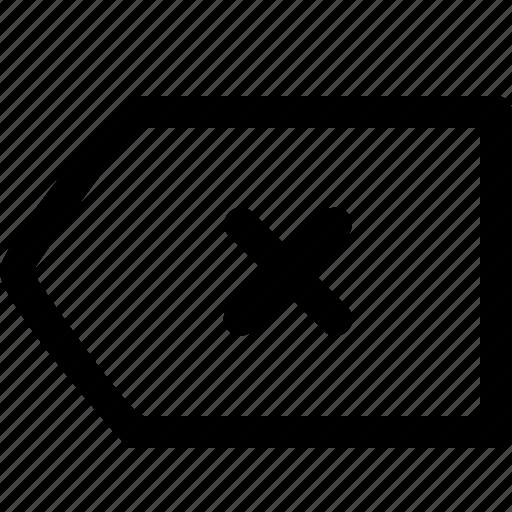 arrow, back, backspace, interface icon