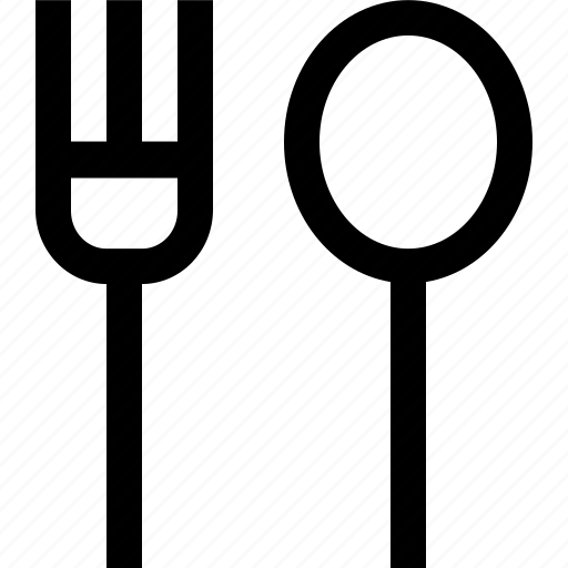 fork, kitchen, spoon icon