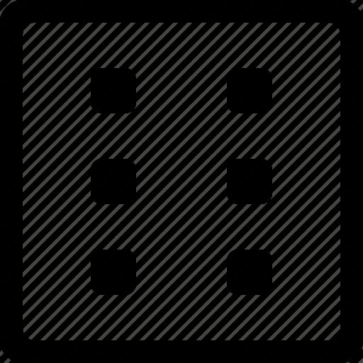 dice, misc, six icon