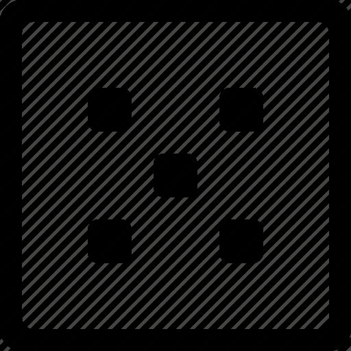 dice, five, misc icon