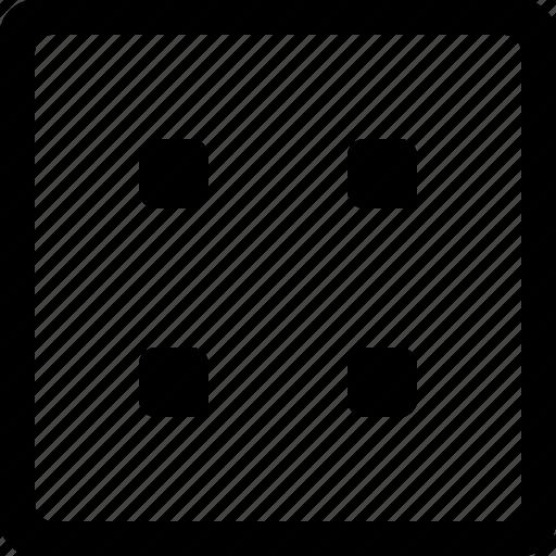 dice, four, misc icon