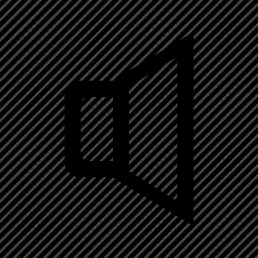 interface, low, volume icon
