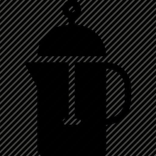 beverage, coffee, drink, food, kitchen, press icon