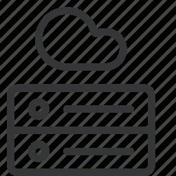 cloud, cloud hosting, database, hosting, server, tech icon