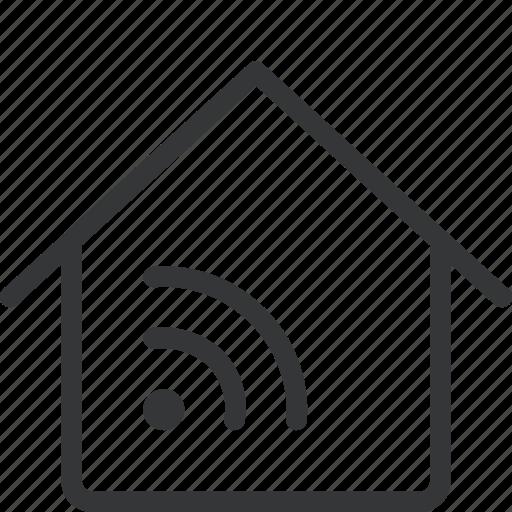 house, network, tech icon