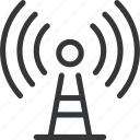 network, radio, signal, tech, technology, tower, tower radio icon