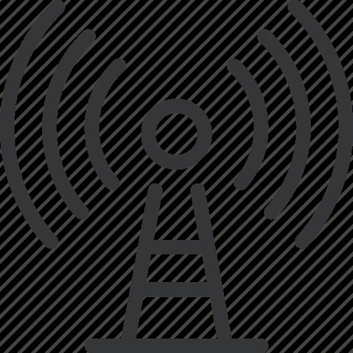 network, radio, signal, tech, technology, tower, tower radio icon