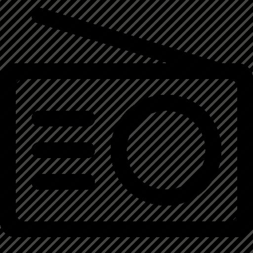 audio, radio, tool icon