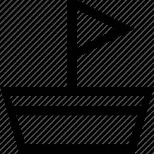 boat, transportation icon