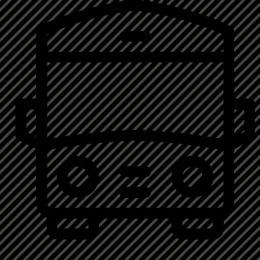 bus, car, front, transportation, wheel icon